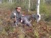 Peter med skjuten kalv på Stortjänflon