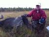 Tor med skjuten tjur vid pass 66