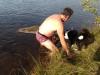 Årets badpojke Tomas Holgersson med skjuten Tjur
