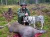 Stefan med skjuten kalv vid Bu´flon
